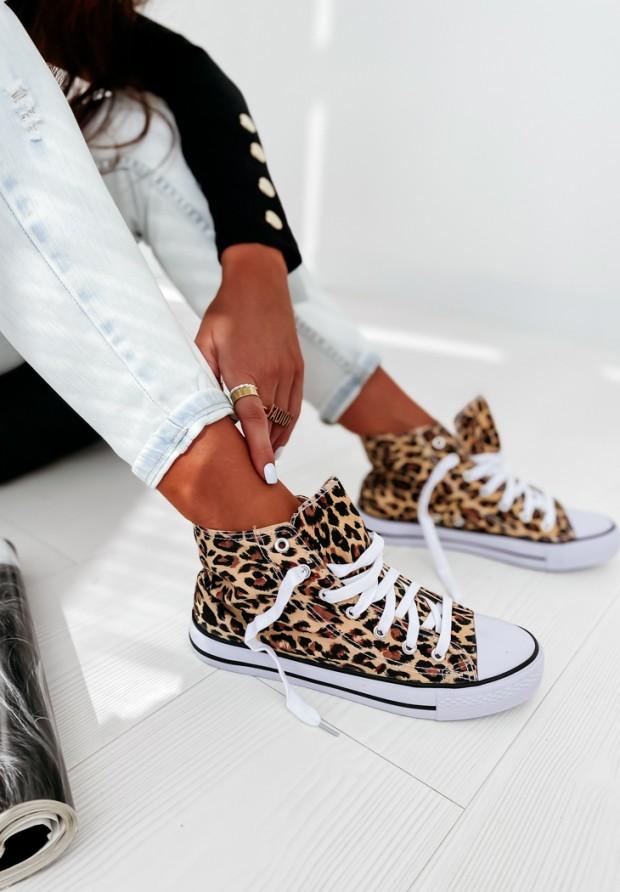 Tenisky Conves Long Leopard