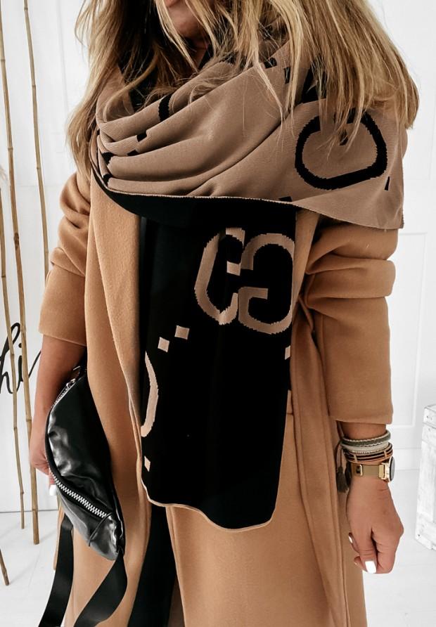 Šál  GG Camel&Black
