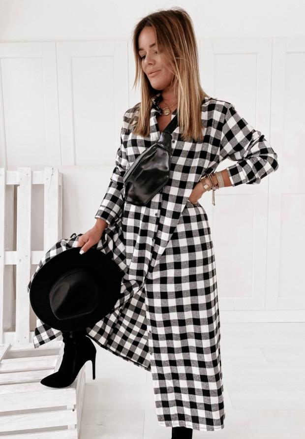 Šaty Károvaný vzor Libby Black&White