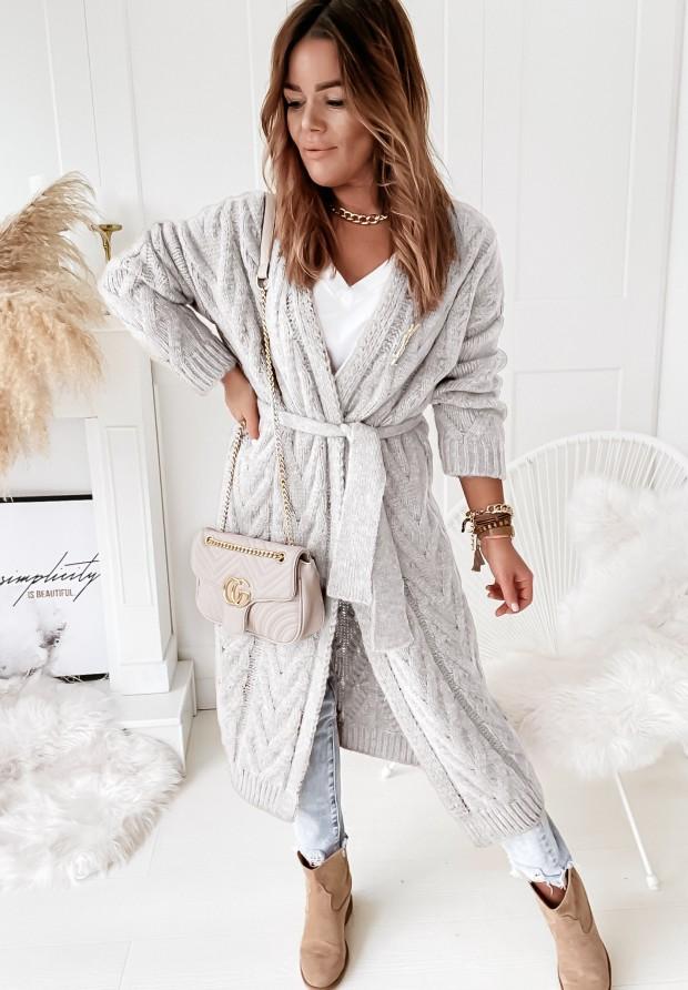 Kabát Kardigan Malian Grey