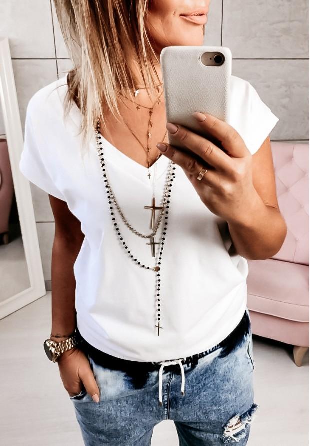 T-shirt V-neck White