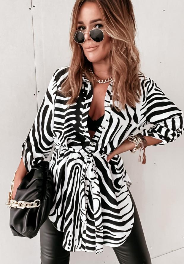 Košeľa Tunika Zebra Black&White