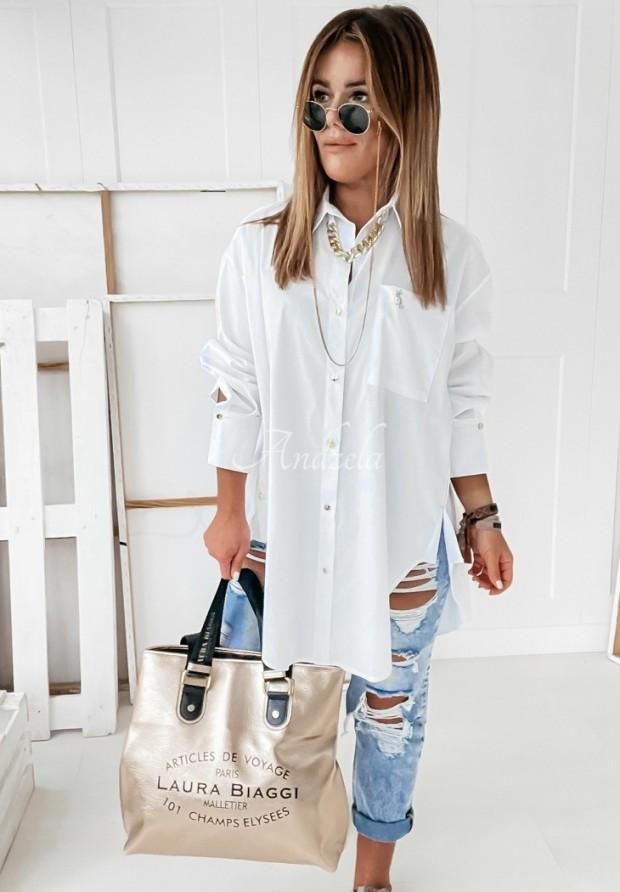 Košeľa Chain Long White