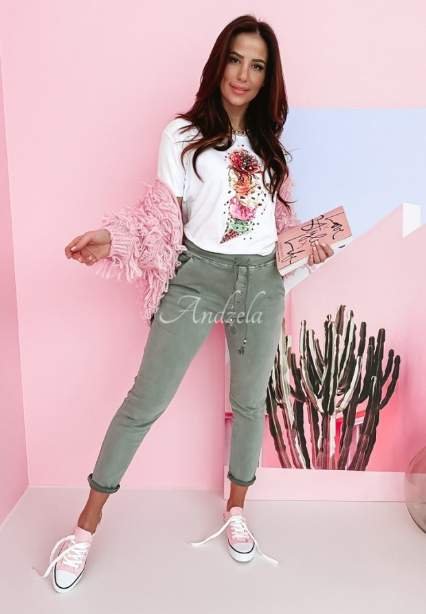 Nohavice Mario Baggy Jeans Khaki
