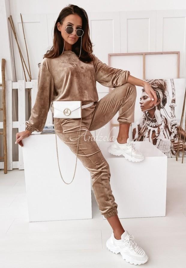 Nohavice Welur Mirray Camel