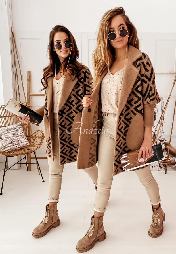 Kabát Liore Camel&Black