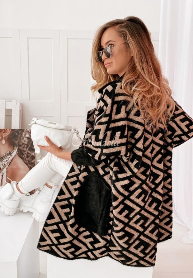 Kabát Liore Black&Camel