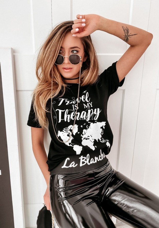 Tričko Travel Therapy Black