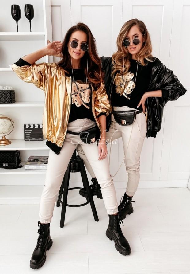 Bunda Bomberka Jess Black&Gold