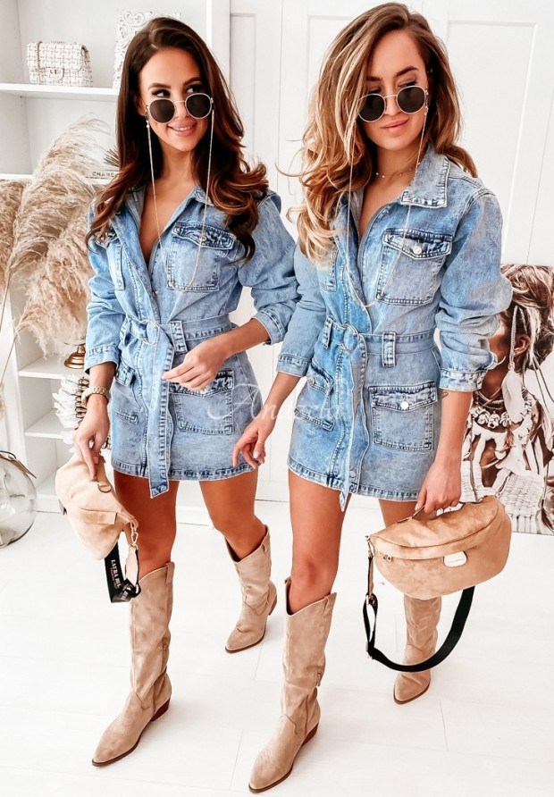 Šaty Jeans Tulum