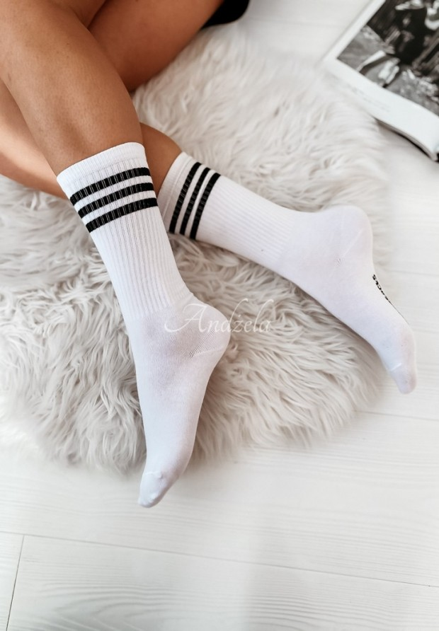 Ponožky Crazy Long White
