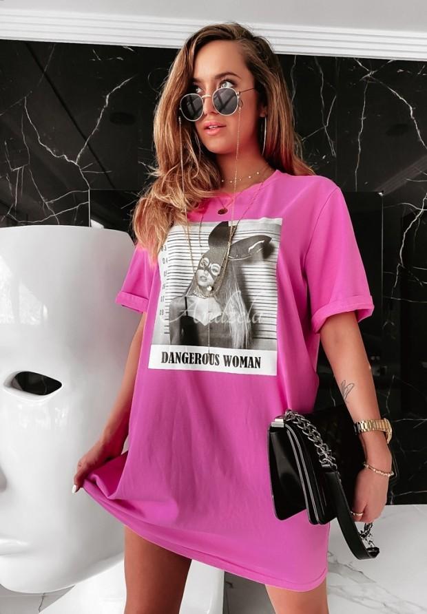 Blúzka Tunika Dangerous Woman Pink