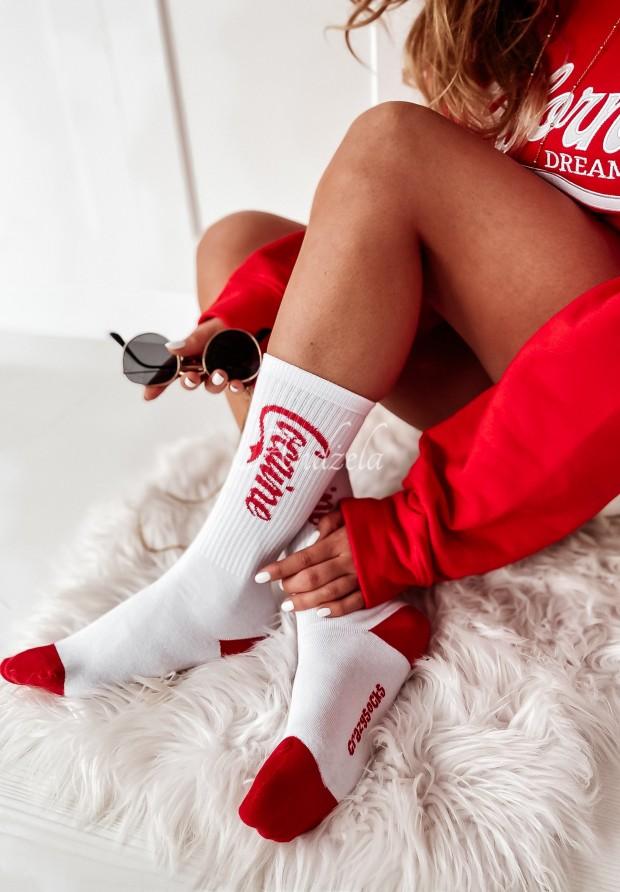 Ponožky Coca White&Red
