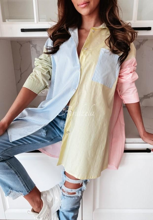 Košeľa Rollan Stripes Color