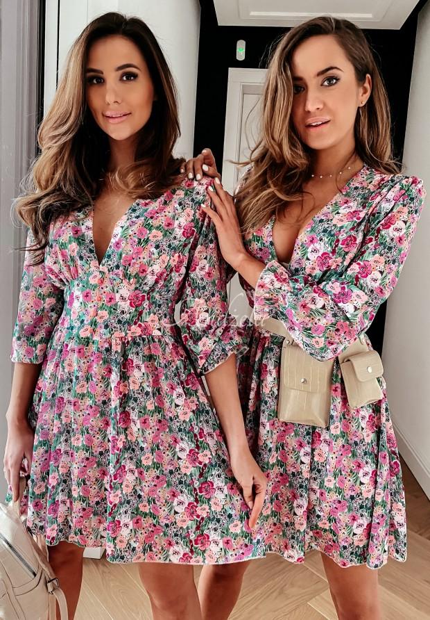 Šaty Maledia Pink&Green