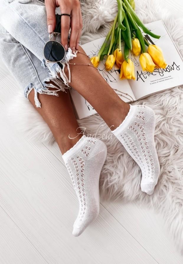 Ponožky Delicate White