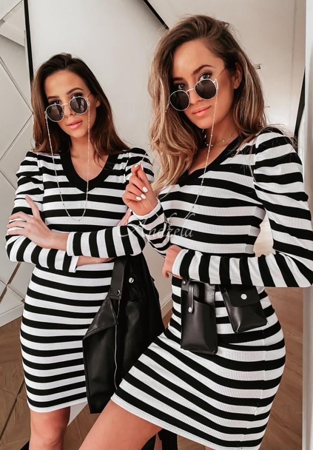 Šaty Pruhy Droma Black&White