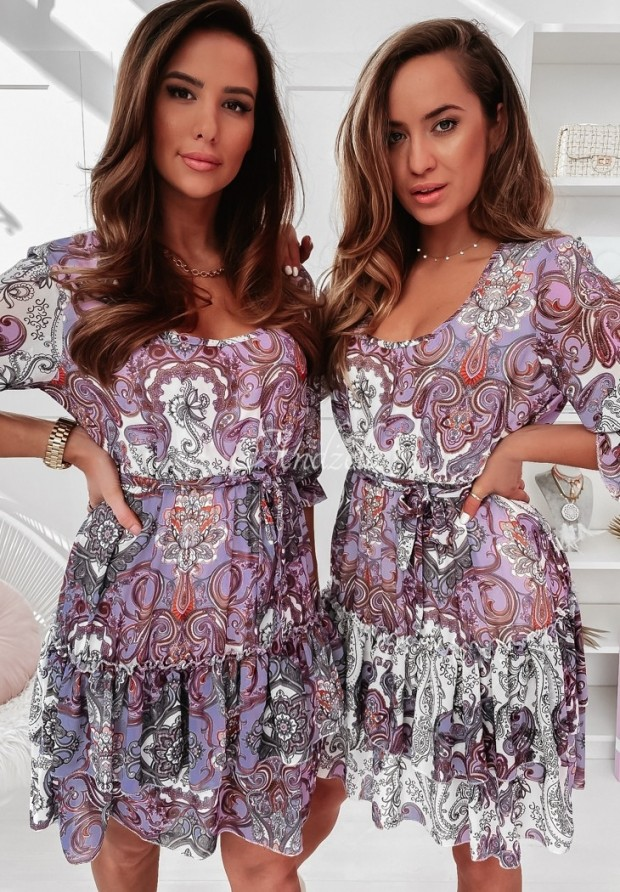 Šaty Eolia Lilac