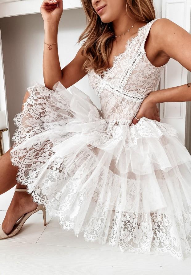 Šaty Tyl Rubinetta White&Beige
