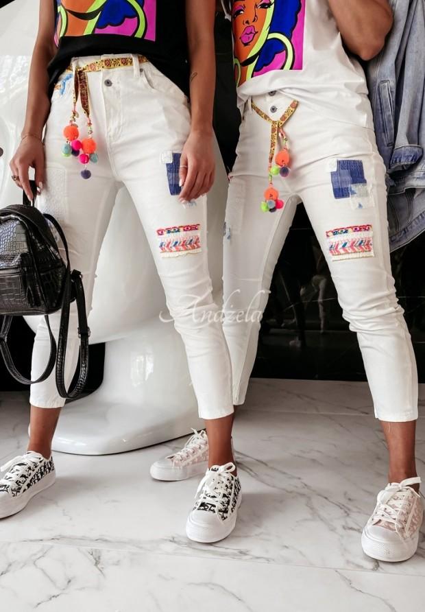 Nohavice Jeans Kasti White