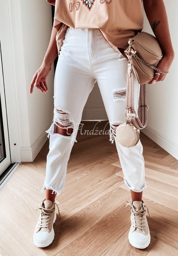 Nohavice Jeans Aderia White