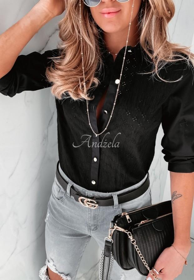 Košeľa Boho Lobea Black