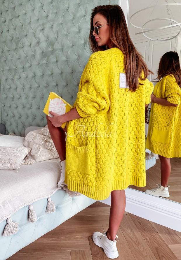 Sveter Kardigan Cocomore Coridon Yellow