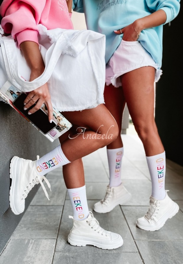 Ponožky Weekend White