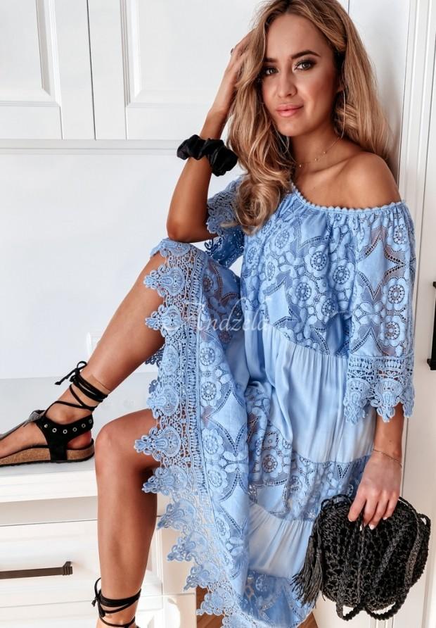Šaty Boho Inilla Blue