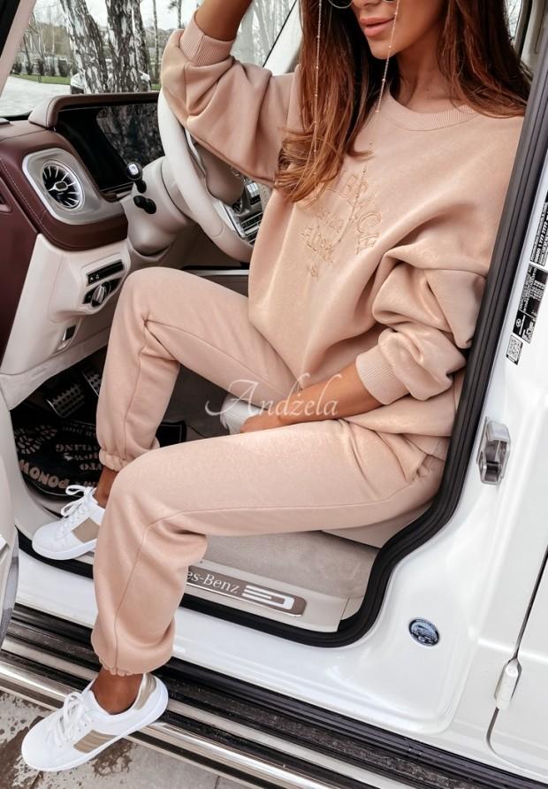 Nohavice Teplákové Miami Beige