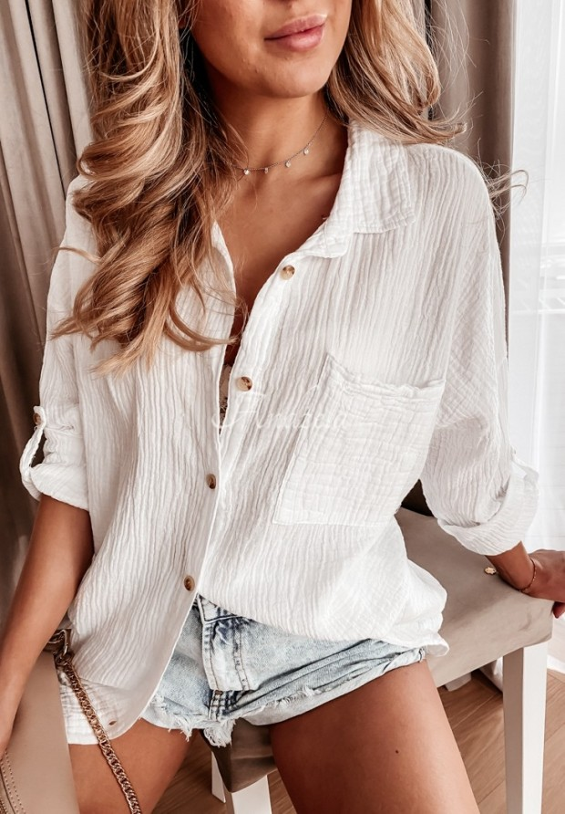 Košeľa Tunika Elisabetta White