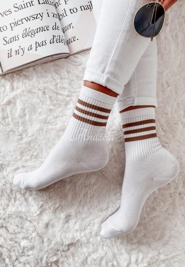 Ponožky Crazy Long Mokka