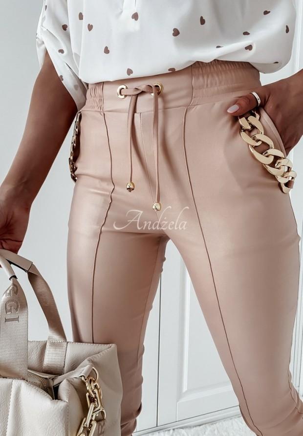Nohavice Z Imitace Kůže Charles Powder