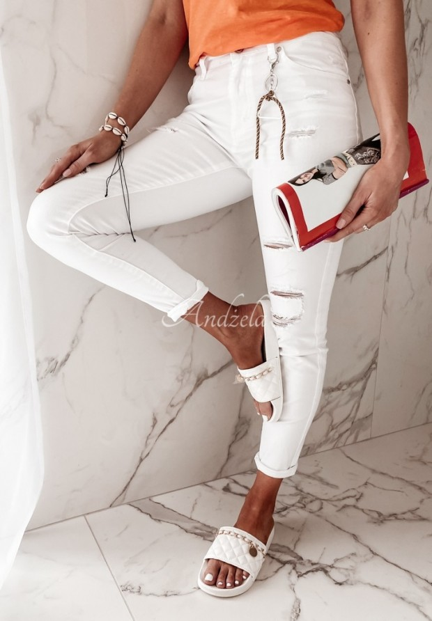 Nohavice Jeans Callina White