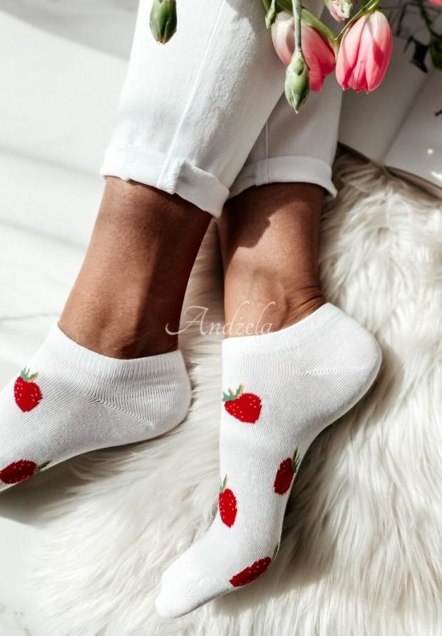 Ponožky Strawberry White