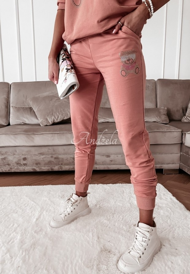 Nohavice Teplákové Teddy Crystal Peach