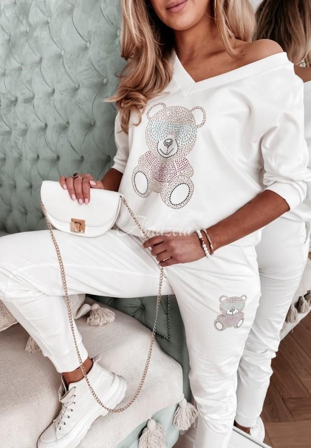 Nohavice Teplákové Teddy Crystal Ecru