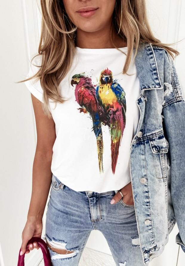 Tričko Parrot White