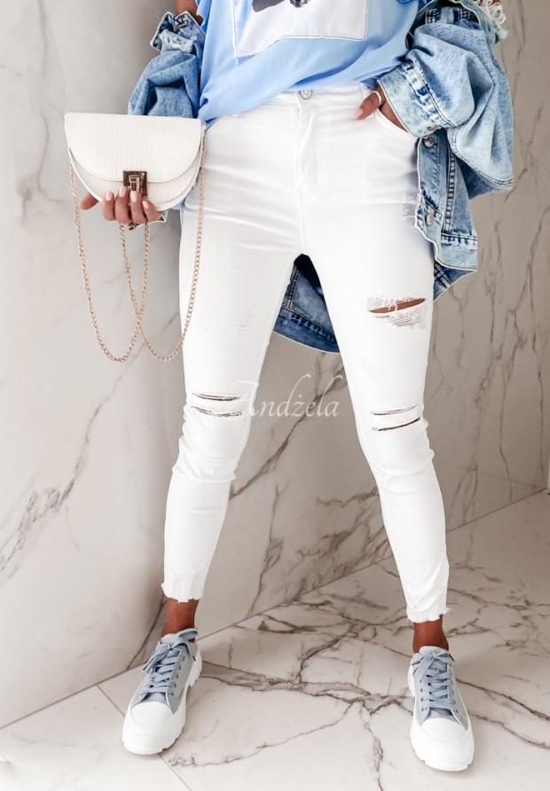 Nohavice Jeans Lortana White