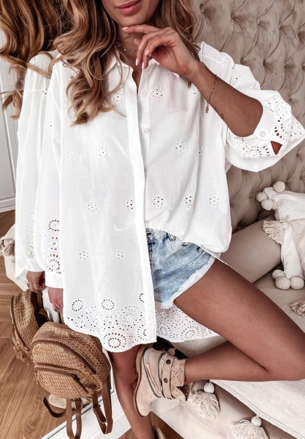 Košeľa Tunika Boho Lacarta White