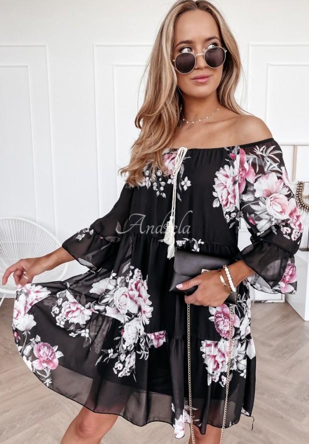 Šaty Španielsky Flora Black