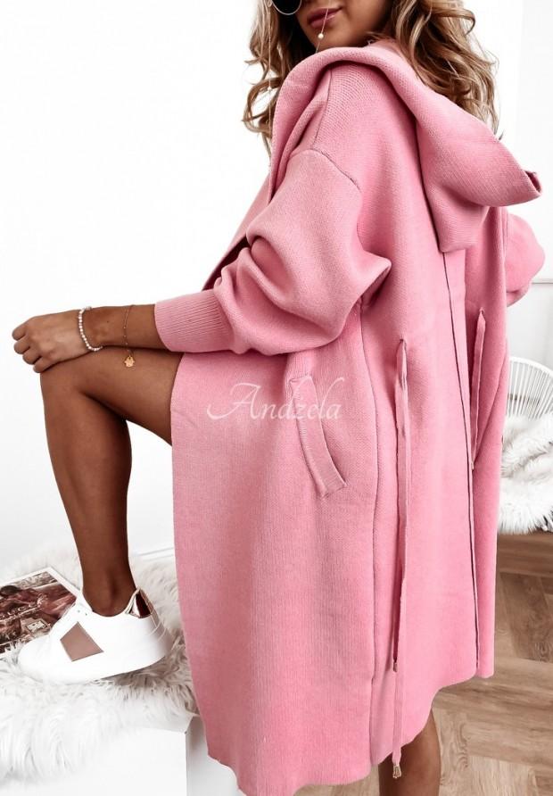 Sveter Kardigan Cocomore Santia Coral Pink