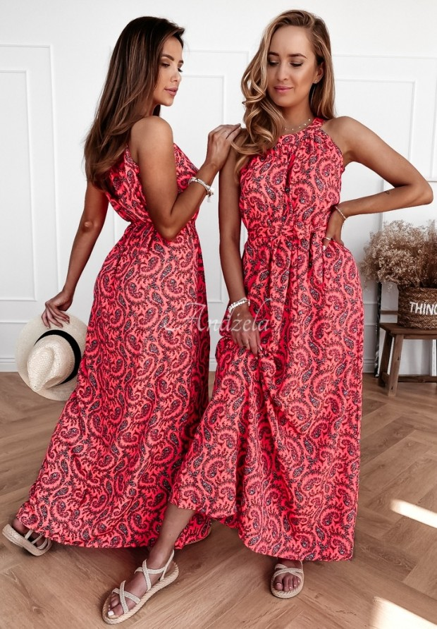 Šaty Salvadori Neon Pink