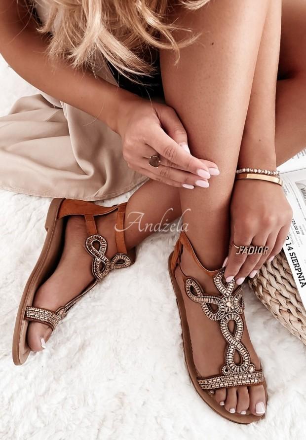 Sandále Tessa Camel