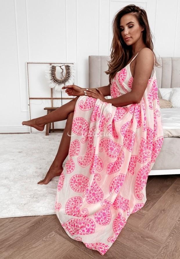 Šaty Irmen Ecru&Pink