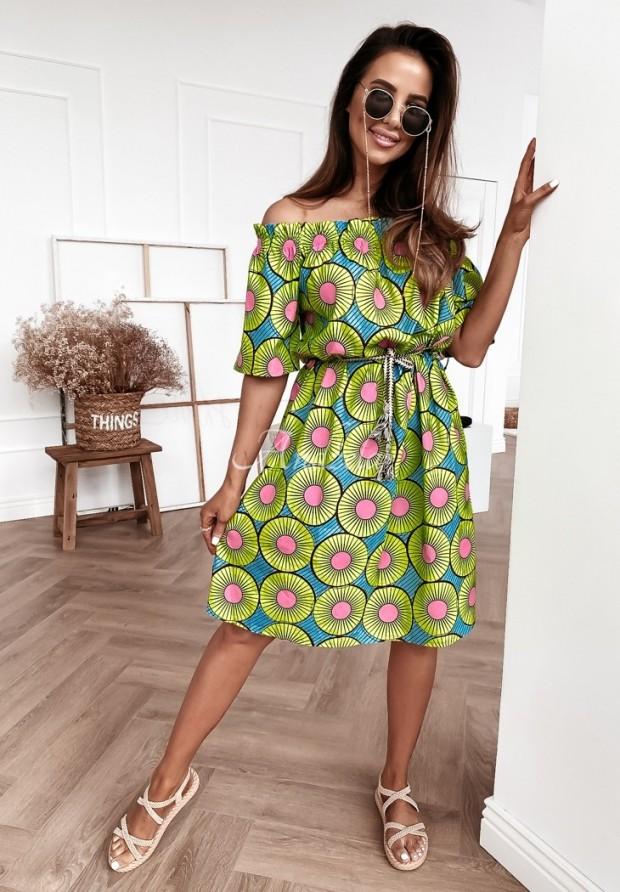 Šaty Španielsky Lorris Blue&Green