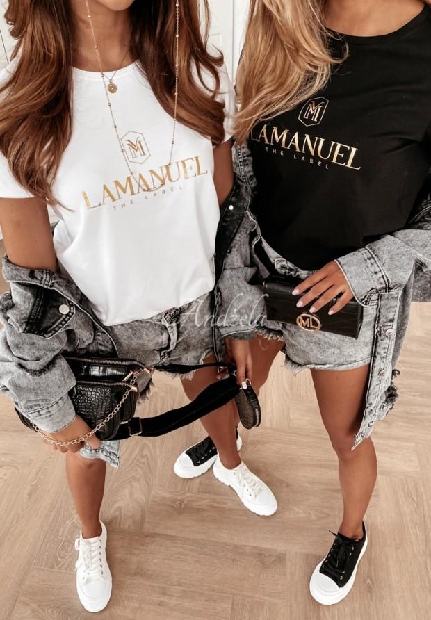 Tričko La Manuel Gold&White