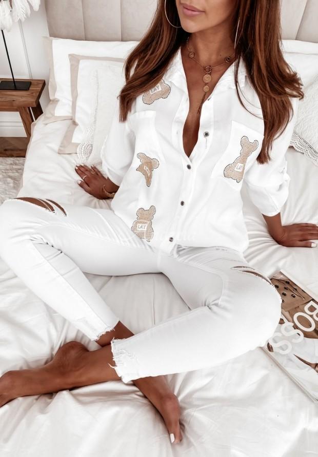 Košeľa Teddy Crystal White