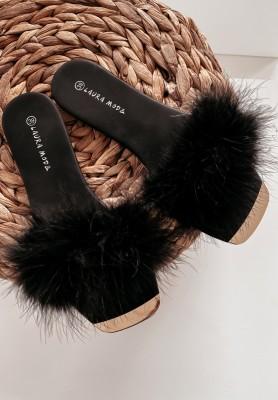 Šľapky  Fluffy Black