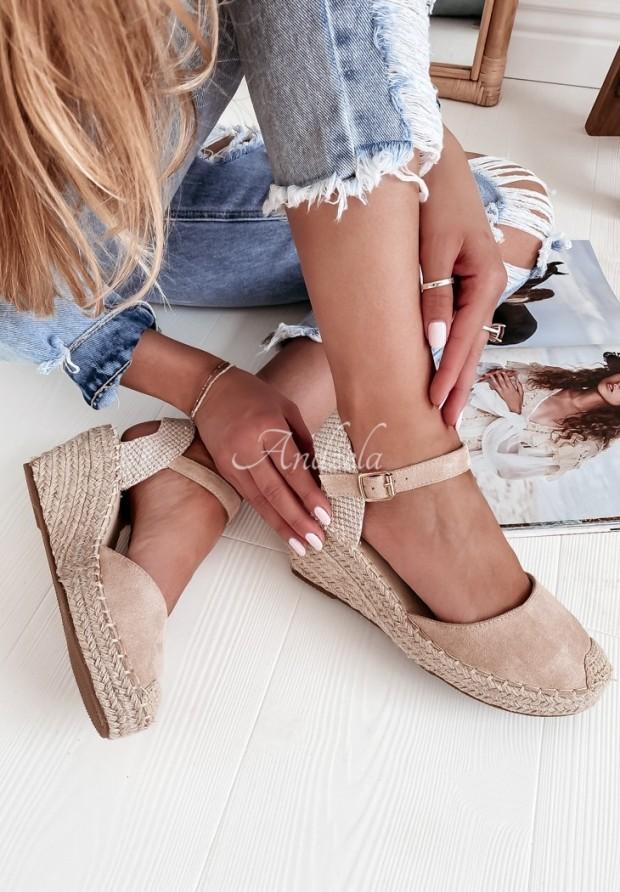 Sandále Ariadna Beige